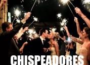 Chispeadores gigantes para bodas