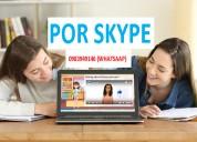 InglÉs virtual por skype a solo 5 dolares la hora.