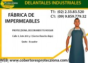 Delantales industriales impermeables