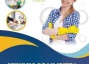 Limpieza y desinfección de casas y oficinas