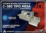 Codificadora automática c-380 tipo mesa