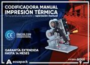 Codificadora manual impresiÓn termica