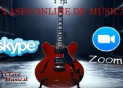Clases musicales por zoom o skype
