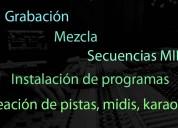 Curso, clases de producción musical, grabacion,