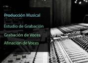 Grabación de voces, afinación, estudio de grabació