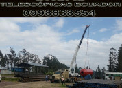 Gruas alquiler de grÚas telescopicas gruas ecuador