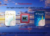 Traducciones del inglés al español (y viceversa)