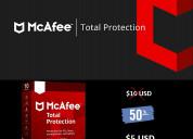 Antivirus mcafee 2019 100% original, 5 años, 1pc
