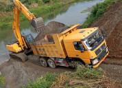 Alquiler de maquinaria excavadoras, tractores y vo