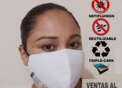Mascarilla antifluido excelente calidad