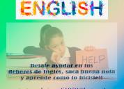 Se realiza deberes de inglés