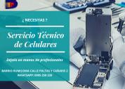 Asistencia técnica y reparación de celulares.