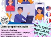 Curso de inglés, francés e italiano