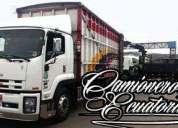 Camiones para flete mudanzas a nivel nacional nueva loja