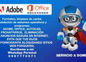 Programa e instalación de adobe - office - autocad