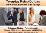 Psicóloga clínica - terapia individual y de pareja