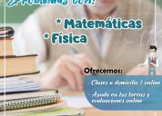 Clases de matematica y fisica