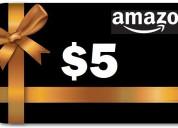 Tarjeta de regalo amazon gift card $5