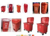 Tacho ecologico rojos 10,20,35,53,120,240,660ltrs