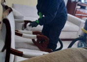 Lavado y desinfeccion con vapor para muebles
