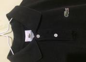 Vendo camisa polo negro de lacoste talla small