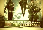 Curso de entrenamiento militar en riobamba