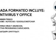 Formateo y programas adobe y office 2021