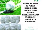 FÚtbol redes de micro  y indor