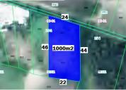 Terreno de mil m2 a 4 cuadras del mall de racar