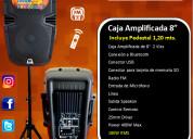Caja amplificada eb audio de 8 pulgadas  mod. 050