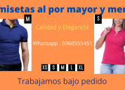 Camisetas polo al por mayor y menor / 0960555451
