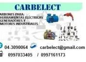 Carbones para generadores, motores, herramientas eléctricas, etc. - escobillas - guayaquil