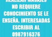 Agencia de masajes a la busqueda de una masajista