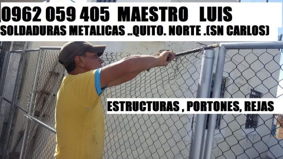 SOLDADOR SOLDADURAS METALICAS LUIS QUITO NORTE