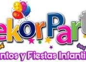 Animacion de fiestas y eventos decoracion infantil tematica