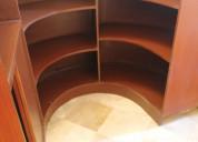 Counter, bar ovalado de madera