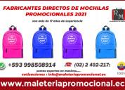Fabricantes de mochilas publicitarias para el 2021