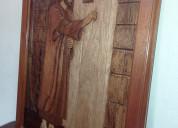 Cuadro de jesús tallado en madera