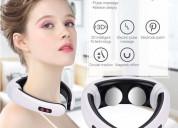Masajeador de cuello neck massagercon 2 electrodos