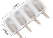 Moldes de silicona para fabricar helados de paleta