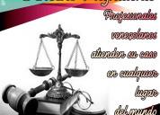 Apostilla, legalización, curatela, antecedentes