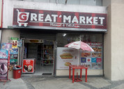 De oportunidad vendo minimarket