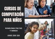 Curso computación para niños, sangolquí