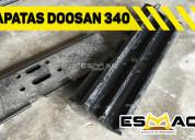 Vendo 84 zapatas para excavadora doosan 340 origin