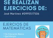 Tutorias de matemáticas, física e ingeniería civil