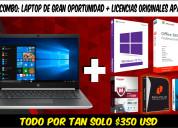 Super combo: laptop gran oportunidad + licencias
