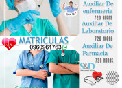 Matriculas auxiliar de enfermeria certificadas