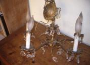 Solido bronze.  chandelier con 5 lamparas hecho en