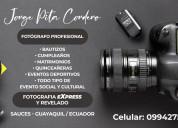 Fotografía, fotógrafo para eventos sociales