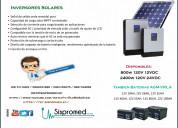 Paneles solares - inversor solar - baterias agm